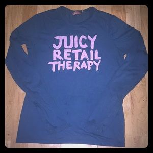 Juicy Couture Retail Therapy Knit Top Shirt M